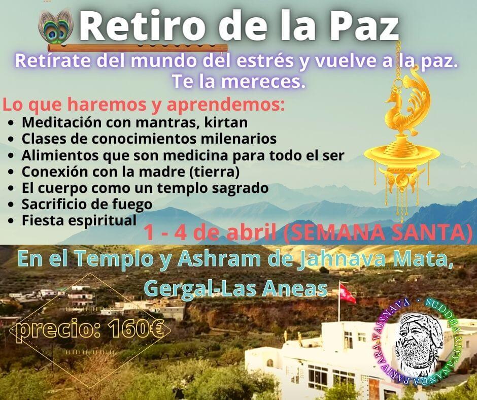 retiro de la paz semana santa 2021